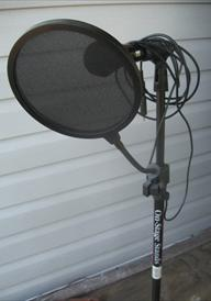Microphone On Stage Stand