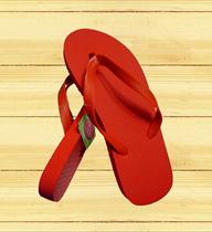 Unbranded Bright Red Flip Flop