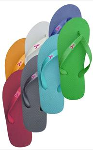 Ribbon Awareness Flat Flip Flop