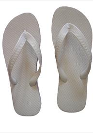 BRIDE WHITE FLIP FLOPS