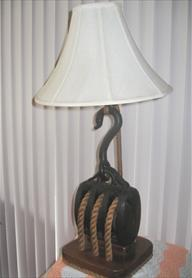 The Dove Nautical Lamp made from one of